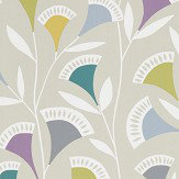 Scion Noukku Foxglove / Graphite / Forest Wallpaper - Product code: 111547