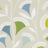 Scion Noukku Citrus / Glacier / Biscuit Wallpaper - Product code: 111548
