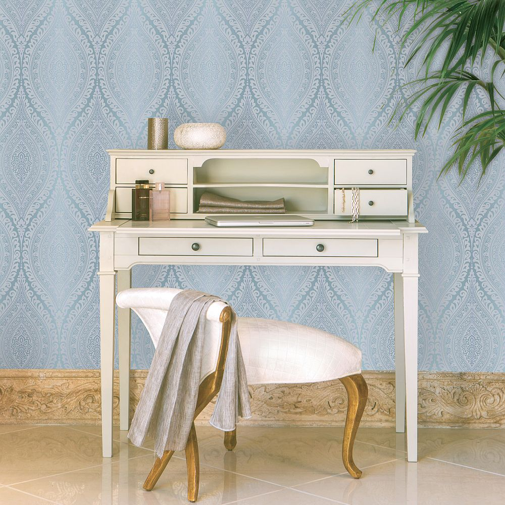 Kismet Wallpaper - Teal - by Albany