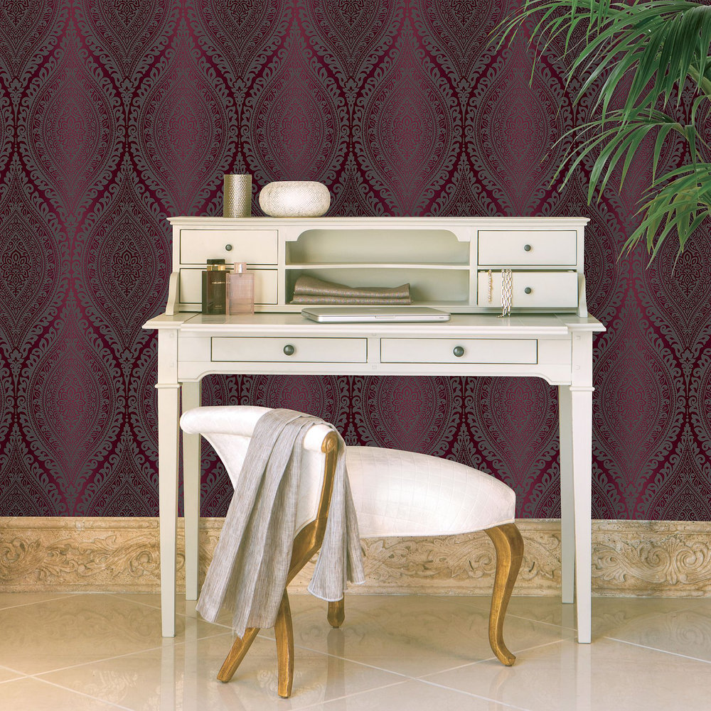 Albany Kismet Plum Wallpaper - Product code: A17705