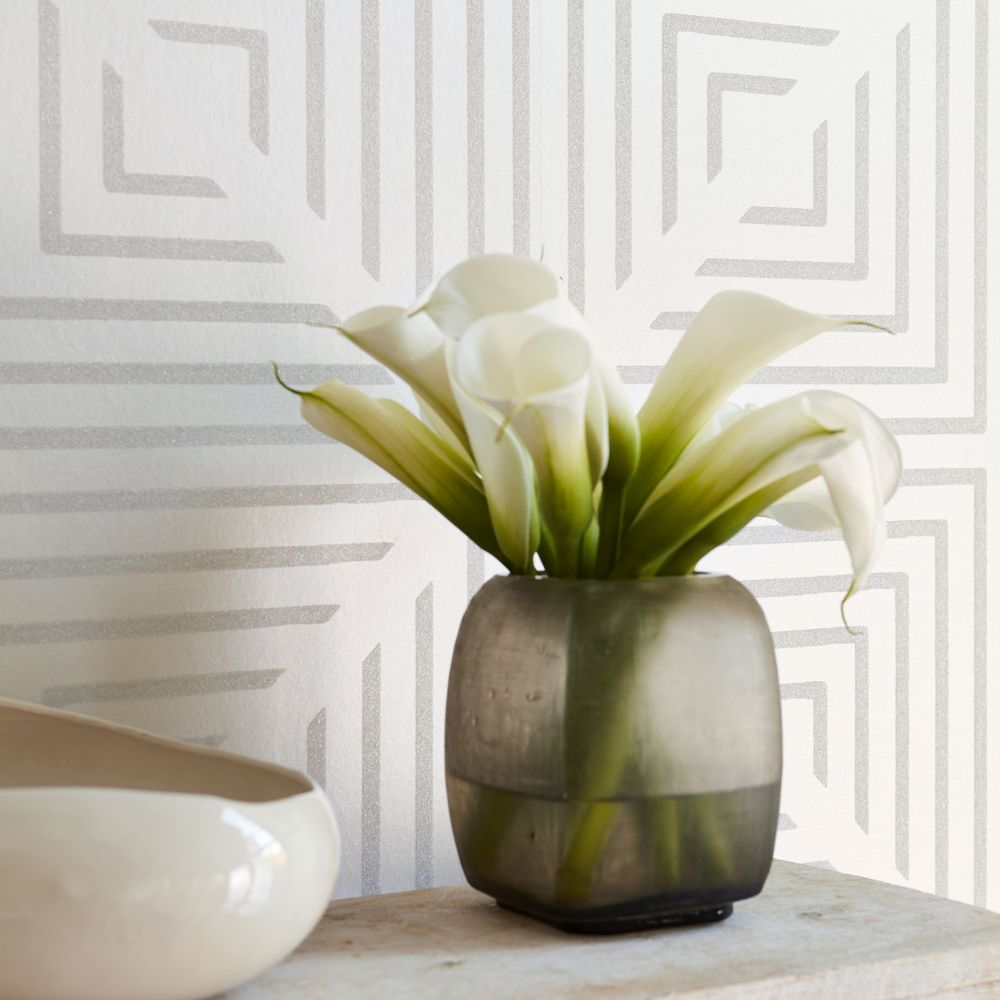 Harlequin Radial Beaded Oyster and Pearl Wallpaper - Product code: 111551