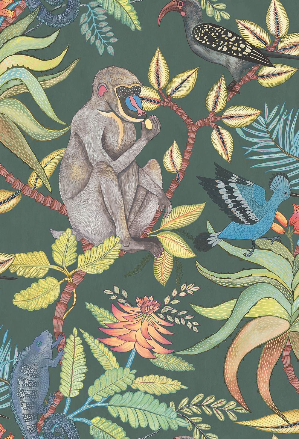 cole and son wallpaper Savuti by Cole & Son   Dark Petrol Multi : Wallpaper Direct cole and son wallpaper