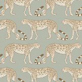 Cole & Son Leopard Walk Olive / White Wallpaper - Product code: 109/2009
