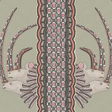 Cole & Son Jabu Olive / Pink Wallpaper - Product code: 109/3017
