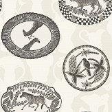 Cole & Son Matrinah Black / White Wallpaper - Product code: 109/4019