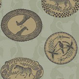 Cole & Son Matrinah Old Olive Wallpaper