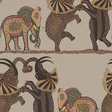 Cole & Son Safari Dance Red / Linen Wallpaper - Product code: 109/8038