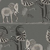 Cole & Son Safari Dance Charcoal / White Wallpaper - Product code: 109/8039