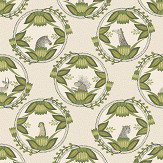 Cole & Son Ardmore Cameos Stone / Green Wallpaper - Product code: 109/9041