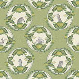 Cole & Son Ardmore Cameos Green Wallpaper - Product code: 109/9042