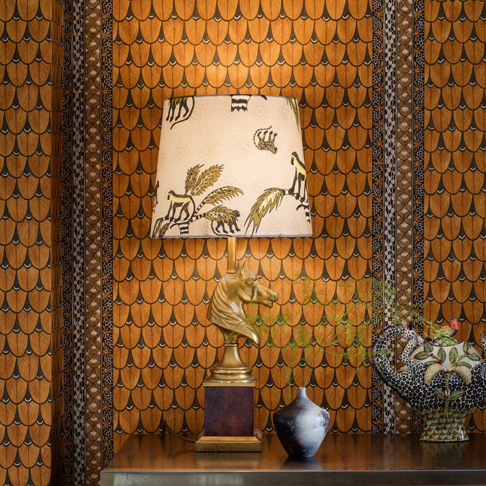Narina Wallpaper - Burnt Orange - by Cole & Son