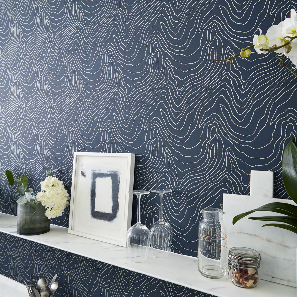 ... Harlequin Formation Beaded Silver Wallpaper Extra Image