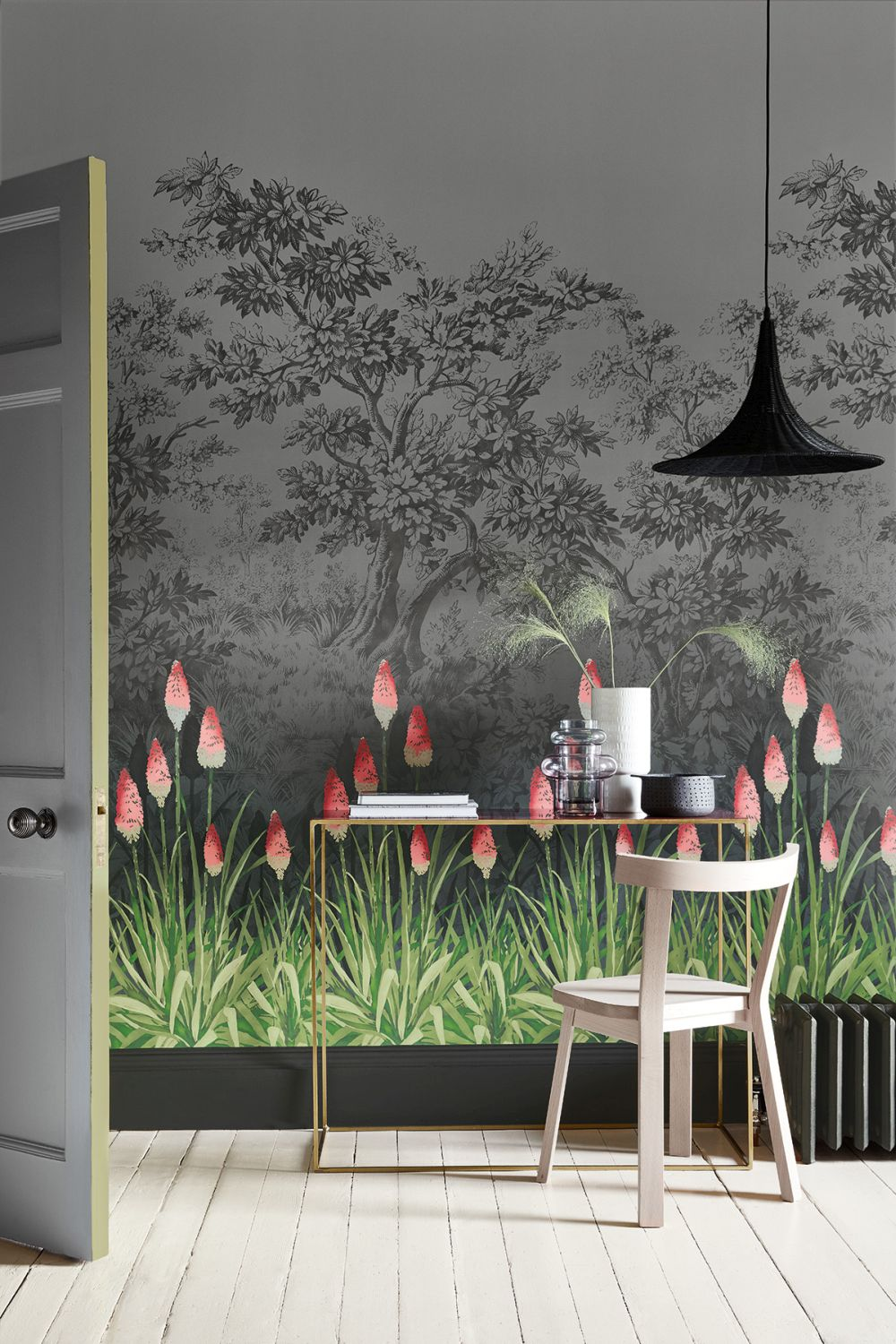 Little Greene Upper Brook Street Minuit Mural extra image