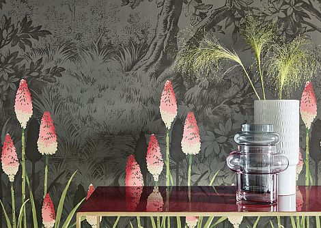 Little Greene Upper Brook Street Minuit Mural