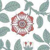 Little Greene Richmond Green Dorcas Wallpaper
