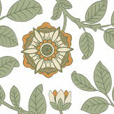 Little Greene Richmond Green Guinevere Wallpaper - Product code: 0251RGGUINE