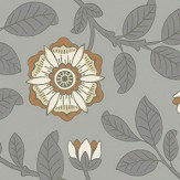 Little Greene Richmond Green Platinum Wallpaper