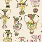 Cole & Son Khulu Vases Cream & Multi Wallpaper - Product code: 109/12057