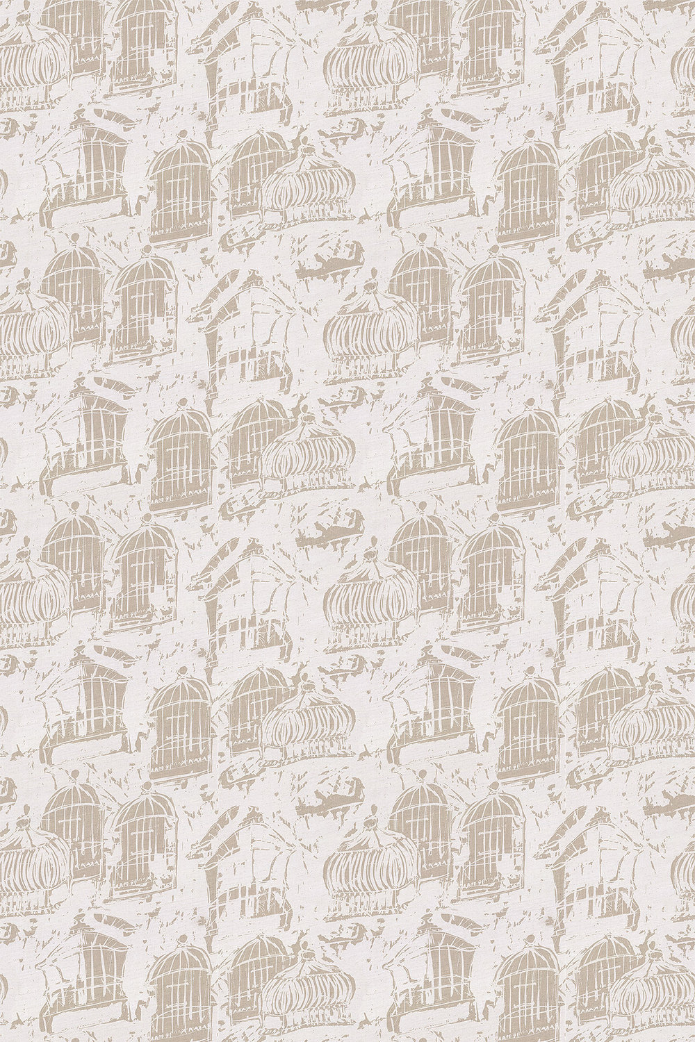Belynda Sharples Linen Union Birdcage 01 Neutral Fabric - Product code: BS-LU-BC-01