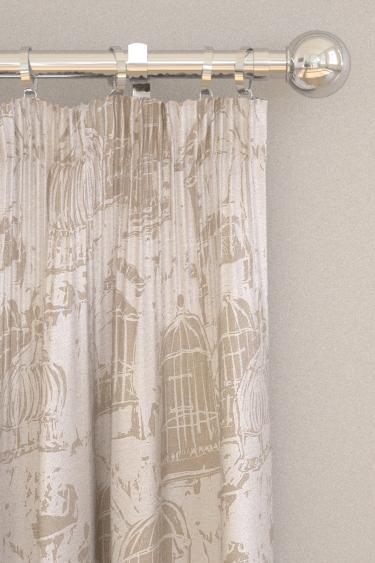 Belynda Sharples Linen Union Birdcage 01 Neutral Curtains - Product code: BS-LU-BC-01