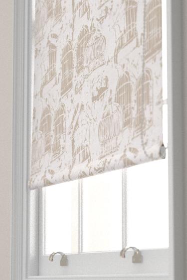 Belynda Sharples Linen Union Birdcage 01 Neutral Blind - Product code: BS-LU-BC-01