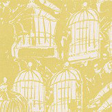 Belynda Sharples Linen Union Birdcage 02 Yellow Fabric