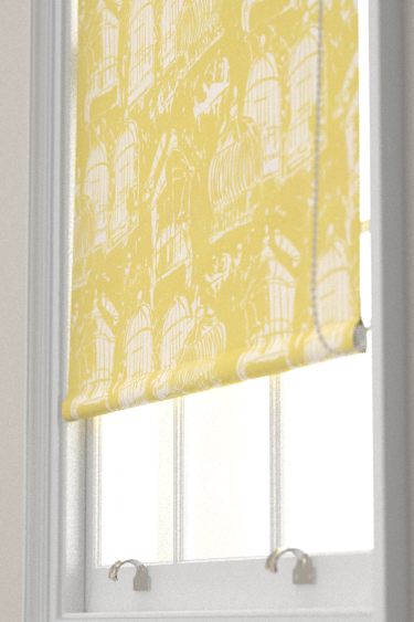 Belynda Sharples Linen Union Birdcage 02 Yellow Blind - Product code: BS-LU-BC-02
