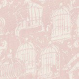 Belynda Sharples Linen Union Birdcage 03 Pink Fabric - Product code: BS-LU-BC-03