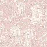 Belynda Sharples Linen Union Birdcage 03 Pink Fabric