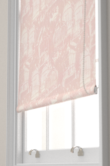 Belynda Sharples Linen Union Birdcage 03 Pink Blind - Product code: BS-LU-BC-03