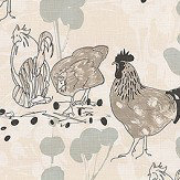 Belynda Sharples Linen Union Chicken 02 Neutral Fabric