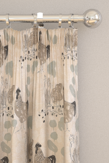 Belynda Sharples Linen Union Chicken 02 Neutral Curtains - Product code: BS-LU-CHI-02