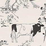 Belynda Sharples Countryside Toile 01 Black / White Fabric - Product code: BS-LU-COU-01