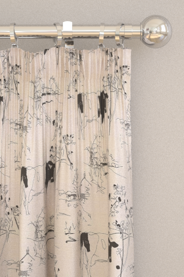 Belynda Sharples Countryside Toile 01 Black / White Curtains - Product code: BS-LU-COU-01