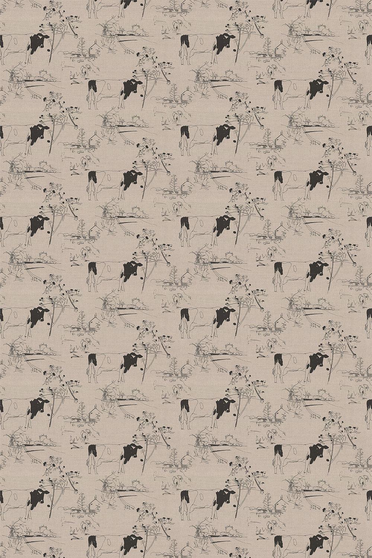 Belynda Sharples Countryside Toile 02 Black / Linen Fabric - Product code: BS-LU-COU-02