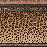 Cole & Son Zulu Border Red & Brown