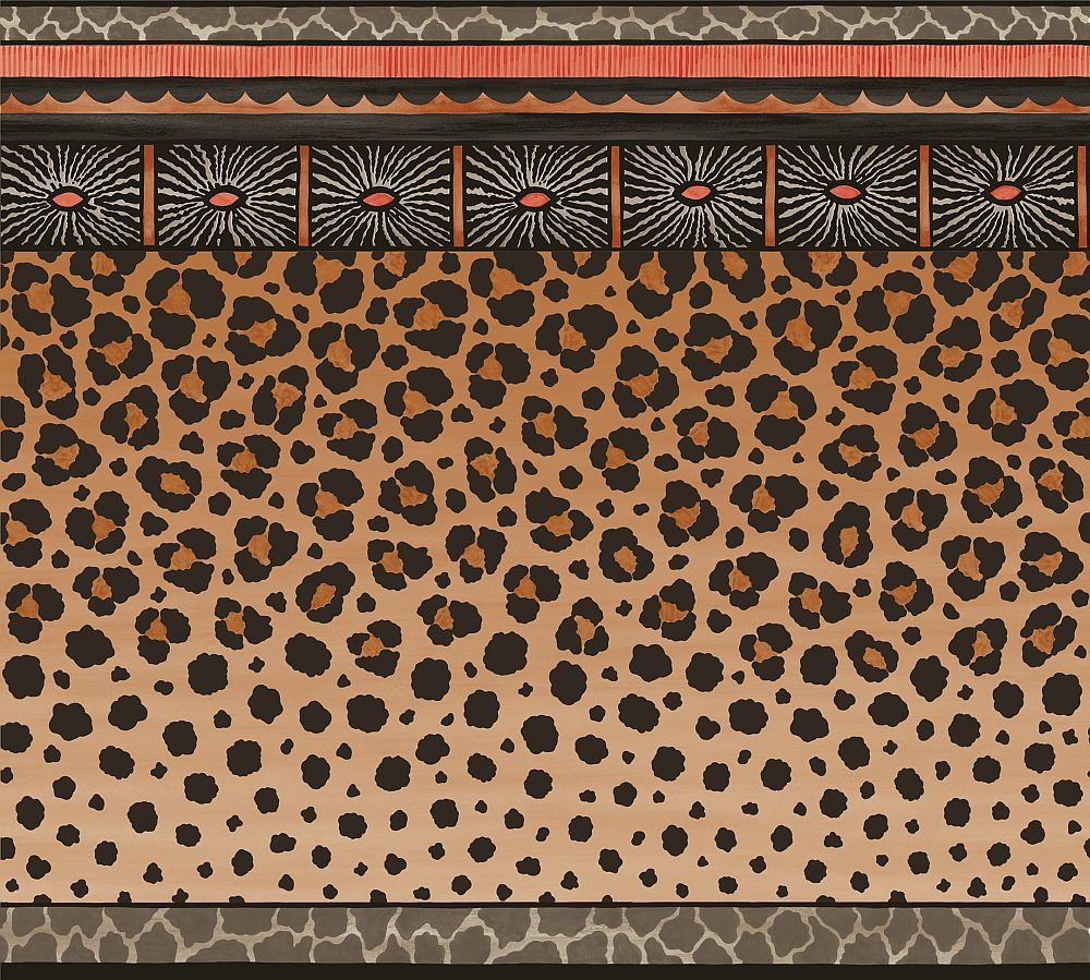 Cole & Son Zulu Border Red & Brown - Product code: 109/13060