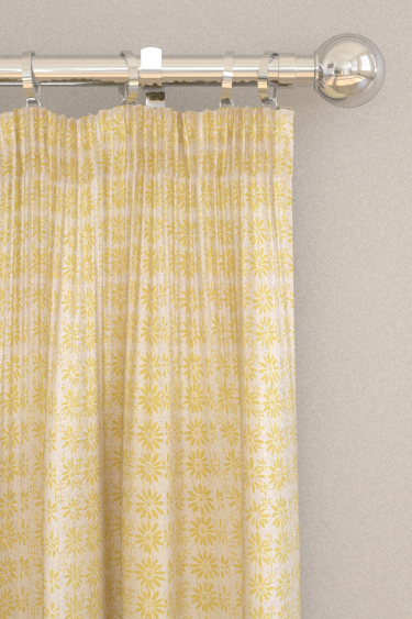 Belynda Sharples Linen Union Daisy 02 Yellow Curtains - Product code: BS-LU-DAI-02