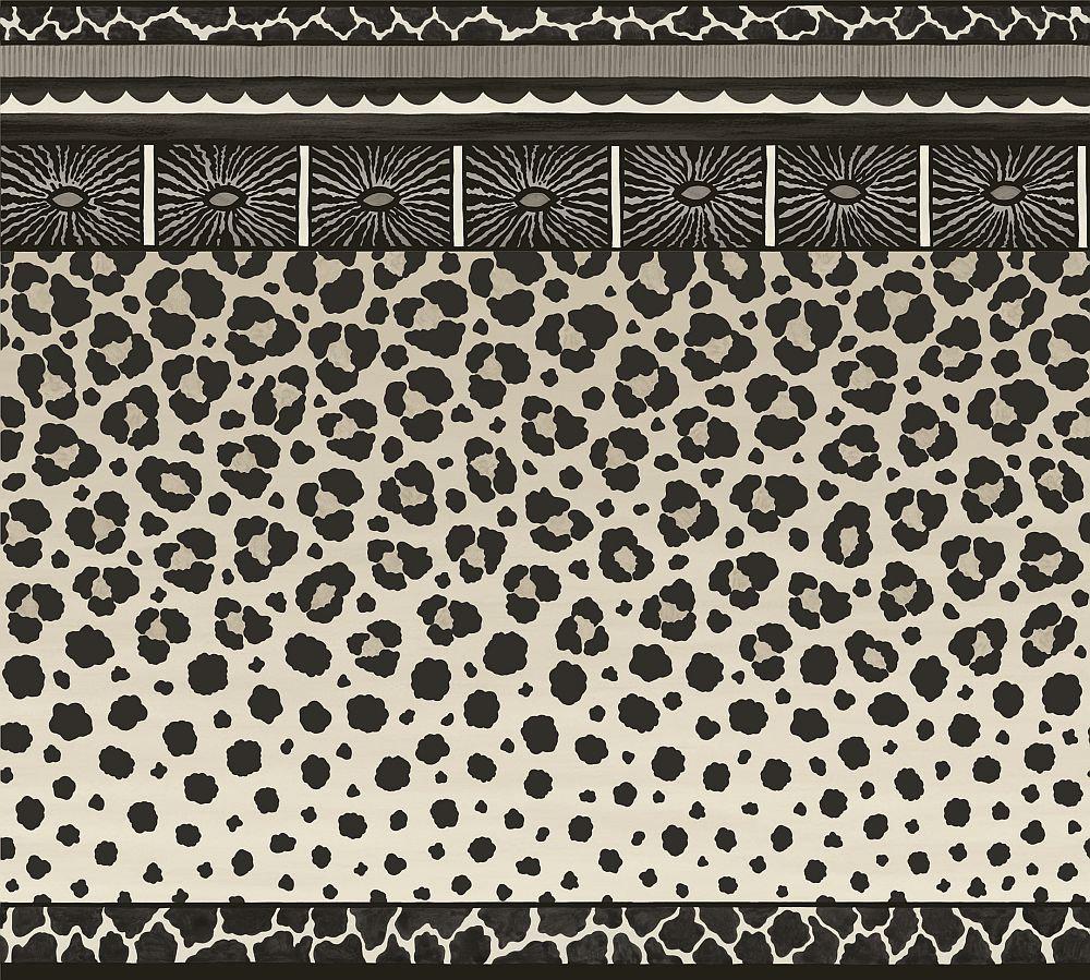 Cole & Son Zulu Border Black & White - Product code: 109/13061