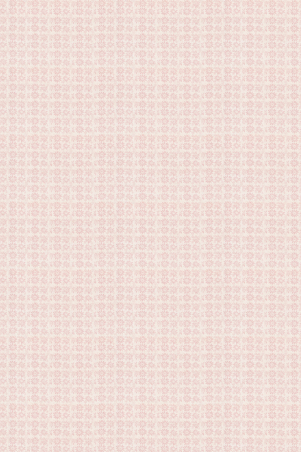 Linen Union Daisy 03 Fabric - Pink - by Belynda Sharples