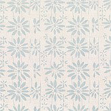 Belynda Sharples Linen Union Daisy 04 Blue Fabric - Product code: BS-LU-DAI-04