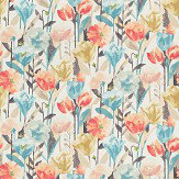Harlequin Verdaccio Coral, Maize and Cornflower Fabric - Product code: 120521