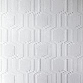 Anaglypta Geo Paintable White Wallpaper - Product code: RD5664