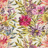 Harlequin Floreale Fuchsia, Heather & Lime Fabric