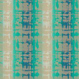 Harlequin Flux Aqua & Lagoon Fabric