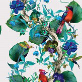 Osborne & Little Rain Forest Emerald / Ruby Wallpaper - Product code: W7026/01