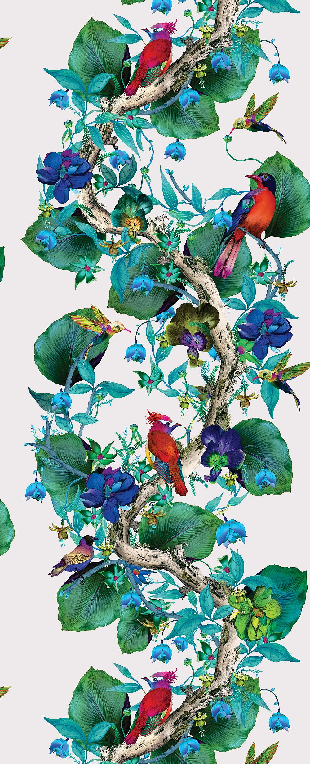 Osborne & Little Rain Forest Emerald / Ruby Wallpaper extra image