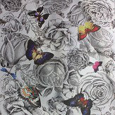 Osborne & Little Butterfly Garden Original on Foil Wallpaper