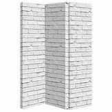 Arthouse White Brick Room Divider