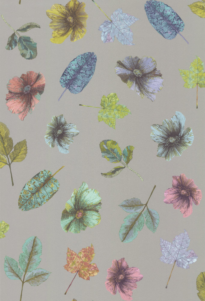 Woodland by Osborne & Little - Mint / Blue / Rose / Silver ...